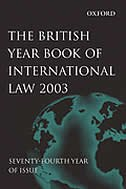 Book The British Year Book of International Law 2003 Volume 74 by James Crawford