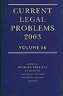 Book Current Legal Problems Volume 56, 2003 by Michael Freeman