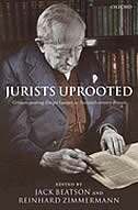 Book Jurists Uprooted: German-Speaking Emigre Lawyers in Twentieth Century Britain by Jack Beatson