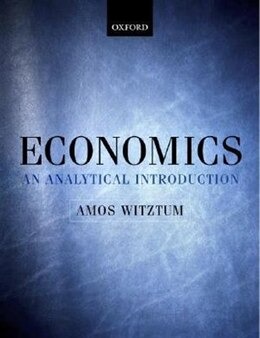 Book Economics: An Analytical Introduction by Amos Witztum