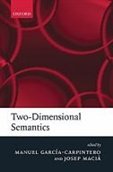 Book Two-dimensional Semantics by Manuel Garcia-Carpintero