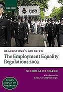 Book Blackstones Guide to the Employment Equality Regulations 2003 by Nicholas De Marco
