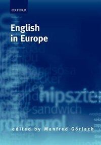 Book English in Europe by Manfred Gorlach