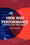 Book HRM and Performance: Achieving Long Term Viability by Jaap Paauwe