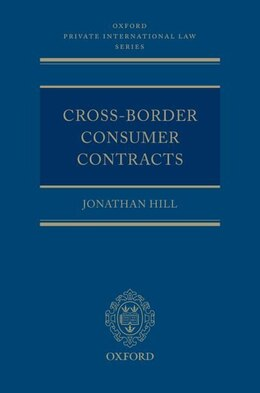 Book Cross-Border Consumer Contracts by Jonathan Hill