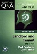 Book QandA: Landlord and Tenant 2005-2006 by Mark Pawlowski