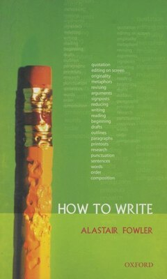 Book How to Write by Alastair Fowler