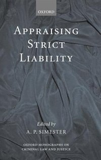 Book Appraising Strict Liability by Andrew Simester