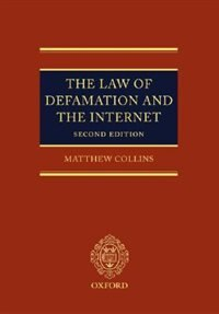 Book The Law Of Defamation And The Internet by Matthew Collins