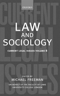 Book Law and Sociology by Michael Freeman