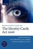 Book Blackstones Guide to the Identity Cards Act 2006 by John Wadham