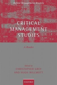 Book Critical Management Studies: A Reader by Christopher Grey