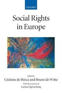 Book Social Rights In Europe by Grainne de Burca