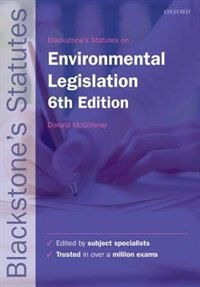 Book Blackstones Environmental Legislation by Donald McGillivray