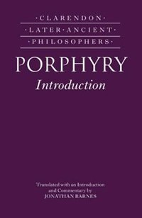 Book Porphyrys Introduction by Jonathan Barnes