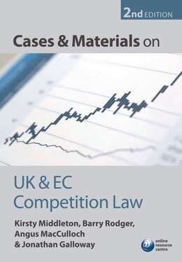 Book Cases and Materials on UK and EC Competition Law by Kirsty Middleton