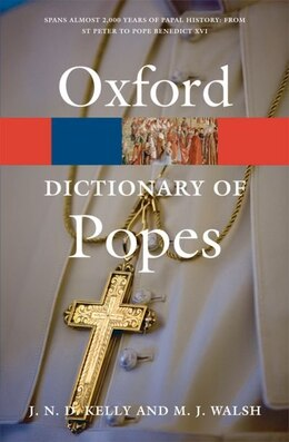 Book A Dictionary of Popes by J. N. D. Kelly