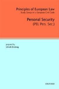 Book Principles of European Law: Vol 3: Personal Security by Ulrich Drobnig
