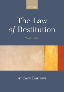 Book The Law of Restitution by Andrew Burrows
