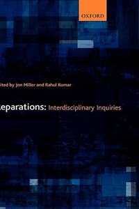Book Reparations: Interdisciplinary Inquiries by Jon Miller
