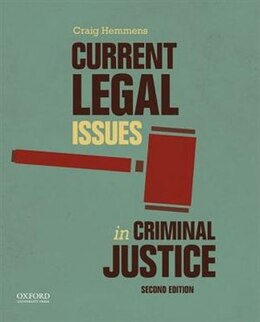 Book Current Legal Issues in Criminal Justice: Readings by Craig Hemmens