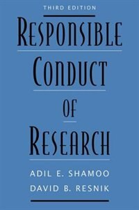 Book Responsible Conduct of Research by Adil E. Shamoo
