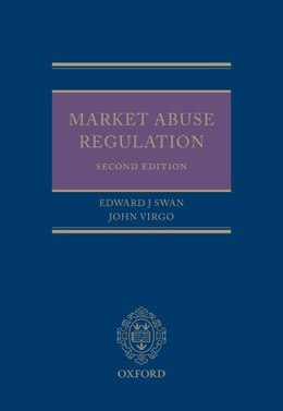 Book Market Abuse Regulation by Edward J. Swan