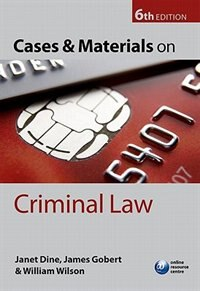 Book Cases and Materials on Criminal Law by Janet Dine
