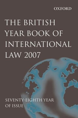 Book British Year Book of International Law 2007 volume 78 by James Crawford