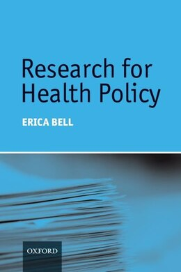Book Research for Health Policy by Erica Bell