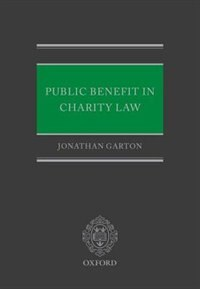 Book Public Benefit in Charity Law by Jonathan Garton