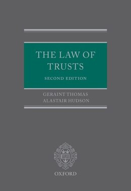 Book The Law of Trusts by Geraint Thomas