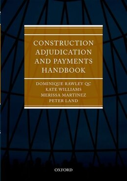 Book Construction Adjudication and Payments Casebook by Merissa Martinez