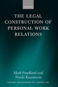 Book The Legal Construction of Personal Work Relations by Mark Freedland