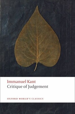 Book Critique of Judgement by Immanuel Kant