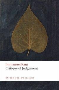 Critique of Judgement