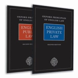 Book Oxford Principles of English Law: English Private Law (2nd edn) and English Public Law (2nd edn) by Andrew Burrows QC