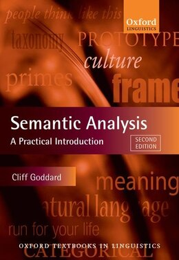 Book Semantic Analysis: A Practical Introduction by Cliff Goddard