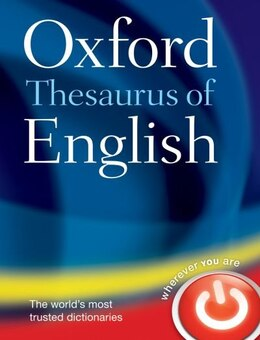 Book Oxford Thesaurus of English by Oxford