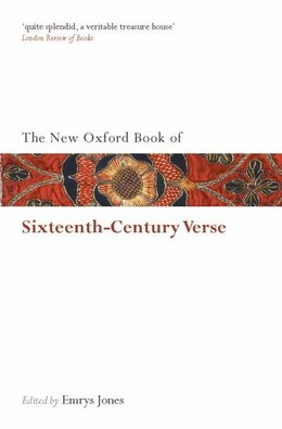 Book The New Oxford Book of Sixteenth-Century Verse by Emrys Jones