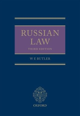 Book Russian Law by William Butler