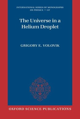 Book The Universe in a Helium Droplet by Grigory E. Volovik