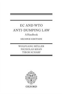 Book EC and WTO Anti-Dumping Law: A Handbook by Wolfgang Mueller