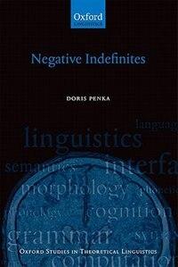 Book Negative Indefinites by Doris Penka