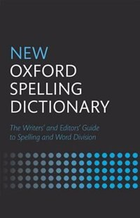 Book New Oxford Spelling Dictionary by Oxford