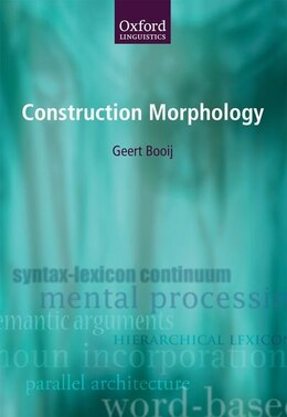 Book Construction Morphology by Geert Booij