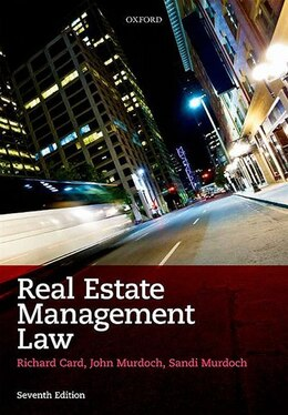 Book Real Estate Management Law by Richard Card