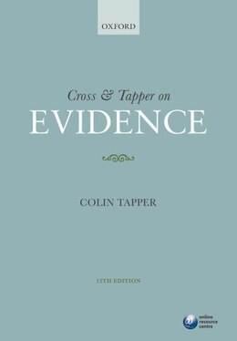 Book Cross and Tapper on Evidence by Colin Tapper