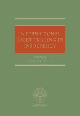 Book International Asset Tracing in Insolvency by Felicity Toube