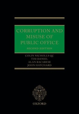 Book Corruption and Misuse of Public Office by Colin Nicholls QC